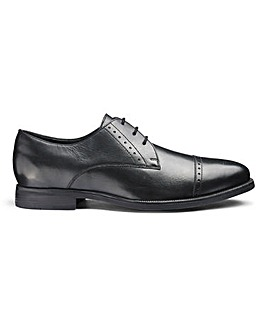 Leather Toe Cap Derby Shoes Extra Wide