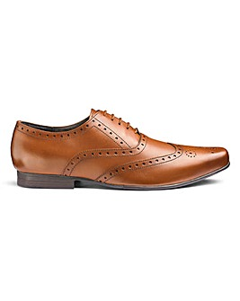 Formal Leather Brogue Ex Wide Fit