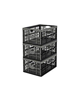 32L Plastic Folding Strage Crates