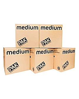 Medium Cardboard Storage Boxes -Set of 5