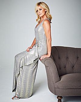Joanna Hope Metallic Maxi Dress