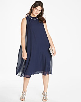 Joanna Hope Bead Trim Swing Dress