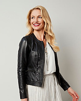 Joanna Hope Leather Jacket