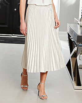 Joanna Hope Metallic Pleated Skirt