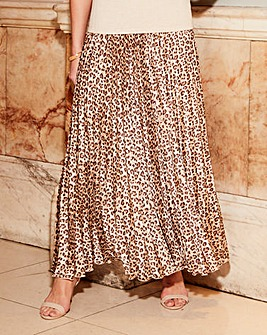 Joanna Hope Animal Print Maxi Skirt