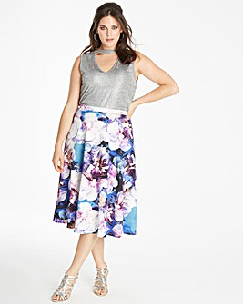 Joanna Hope Print Scuba Skirt