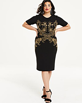 Joanna Hope Embroidered Shift Dress