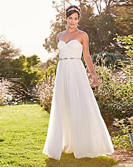 Joanna Hope Bead Trim Dress