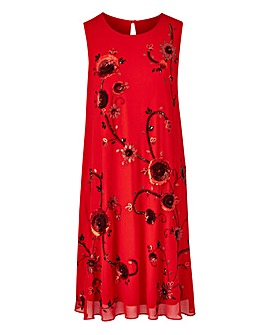 Joanna Hope Sequin Swing Dress