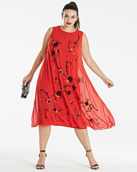 Joanna Hope Sequin Swing Dress