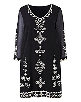 Joanna Hope Petite Embroidered Tunic