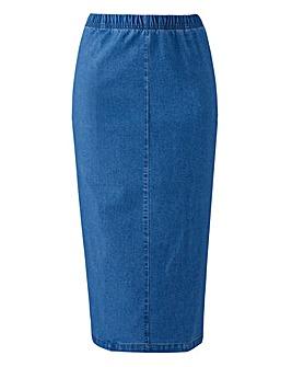 Denim Midi Tube Skirt
