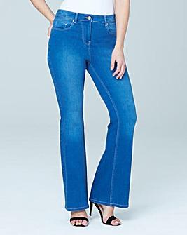 Kim High Waist Bootcut Jeans Reg