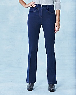 Kim High Waist Bootcut Jeans Long