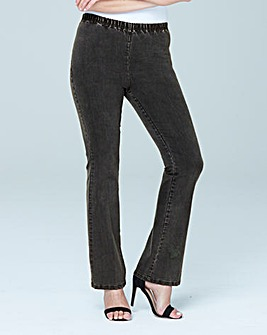 Grey Bootcut Jeggings Short
