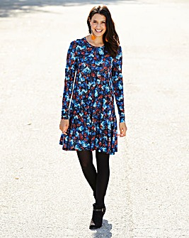 Tall Floral Print Jersey Swing Dress