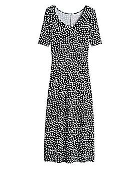Spot Print Jersey Maxi Dress - Tall