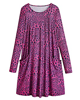 Animal Print Jersey Swing Dress - Tall