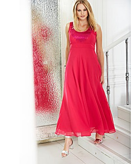 Maxi length Beaded dress