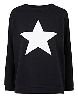 Black/ White Star Sweatshirt