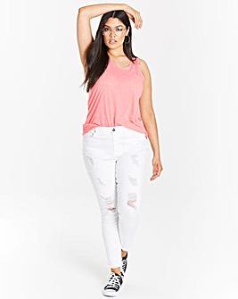 Pink Linen Mix Vest