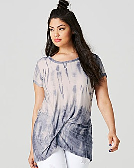 Indigo Tie Dye Tuck Side Tunic