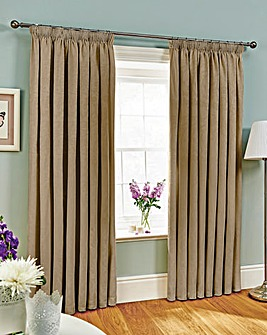 Fully Lined Jacquard Curtains 2 Pairs