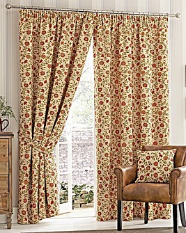 Rani Fully Lined Woven Tapestry Curtain