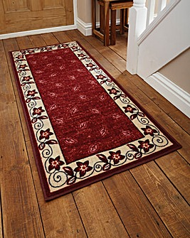 Leaf Border Design Runner & Free Doormat