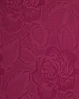 Rose Jacquard Table Linen Scallop Edge