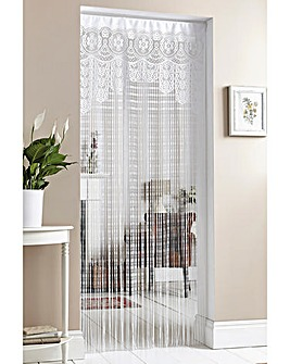 Lacy String Curtain with Pole