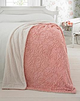 Rose Fleece Bedspread