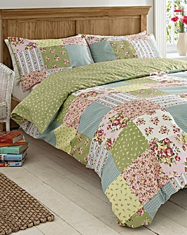 Elsie Patchwork Print Duvet Cover Set