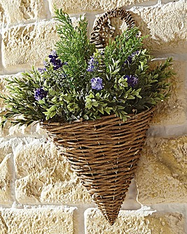Lavender Conifer Wall Basket