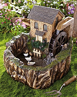 Solar Water Mill Water Feature