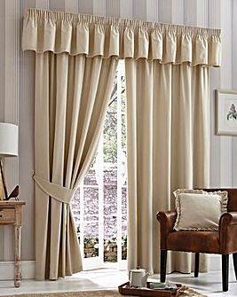 Velour Curtains Three Inch Header