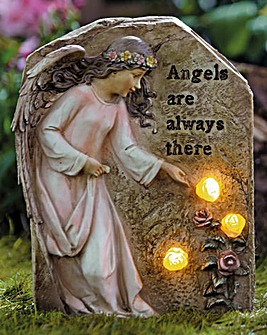 Solar Light Memorial Statue Angels