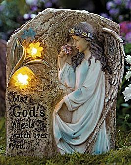Solar Light Memorial Statue God