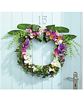 Orchid Floral Wreath
