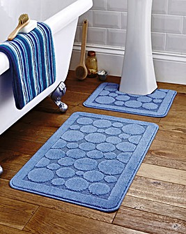 Circles Bath and Pedestal Mat Set