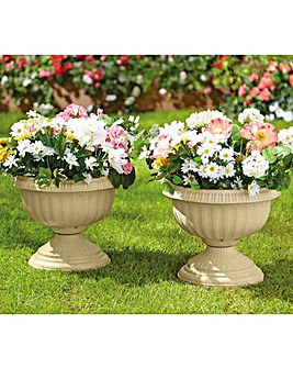 Stone Effect Planters Set of 2