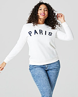 Paris Slogan Sweat