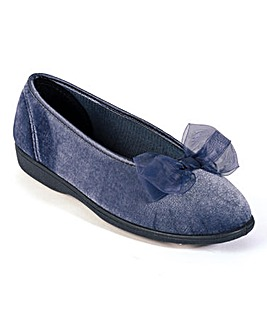 Bow Velvet Slippers