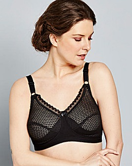 Miss Mary Non Wired Black Bra