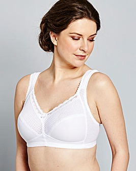 Miss Mary Comfort Non Wired White Bra