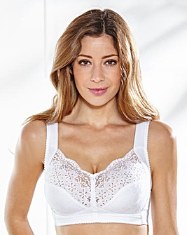 Miss Mary Cotton Non Wired White Bra