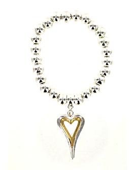 Lizzie Lee Heart Pendant Bracelet