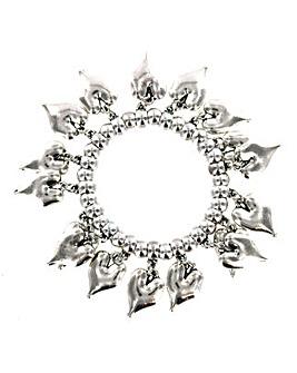 Lizzie Lee Multi Heart Drop Bracelet