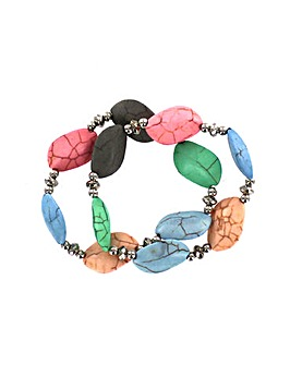 Colourful Natural Stone Bracelet