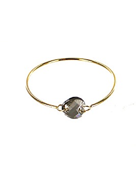 Glass Stone Metal Bangle